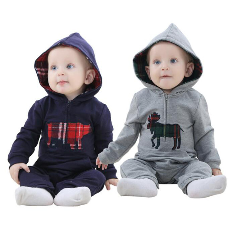 Wholesale Fashion Baby Boy's Spring and Autumn Long Sleeve Cotton Rompers