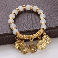 lovely promotion personalized coin crystal serenity prayer bracelet dollar store bracelets