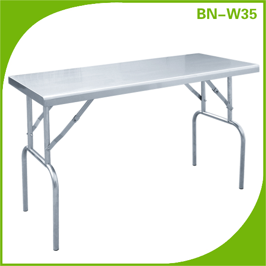 Portable outdoor stainless steel heavy duty folding <strong>table</strong>