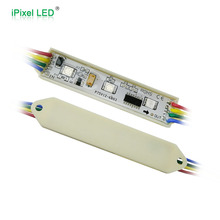 dynamic digital advertising 3 LED RGB led pixel module WS2801 75mm x 15mm
