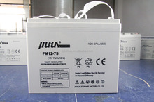 12V 75AH deep cycle gel battery with good quality and available price