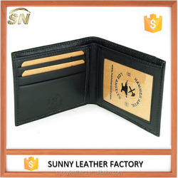 funky genuine leather men thin wallet