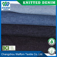 Cotton / Spandex terry knit denim fabric for leggings from china factory