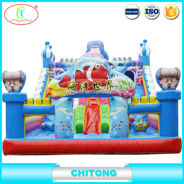 Inflatable Princess Bouncy Castle With Water Slide