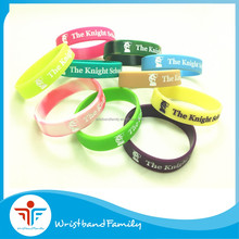 10 style kids size the knight school silicone bracelet /bulk cheap price kids size silicone rubber band