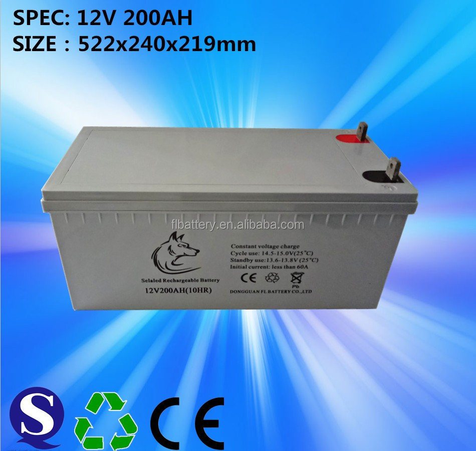 12V/180Ah Gel Deep Cycle Battery for Solar whatsapp 18926805906