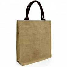 Promotional Hessian Burlap Tote Jute Bag Manufacture Wholesale Shoulder Strap Plain Jute Beach Bags Logo Print Jute Shopping Bag