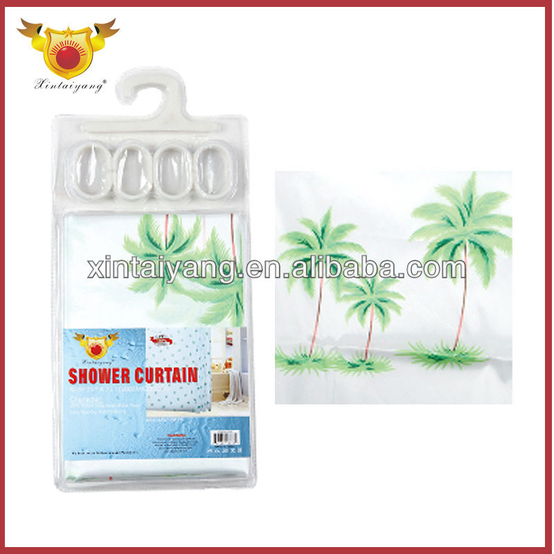 Tropical Style Coconut Tree Photo Print Curtains