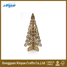 wooden laser craft of stand christmas tree for christmas gift