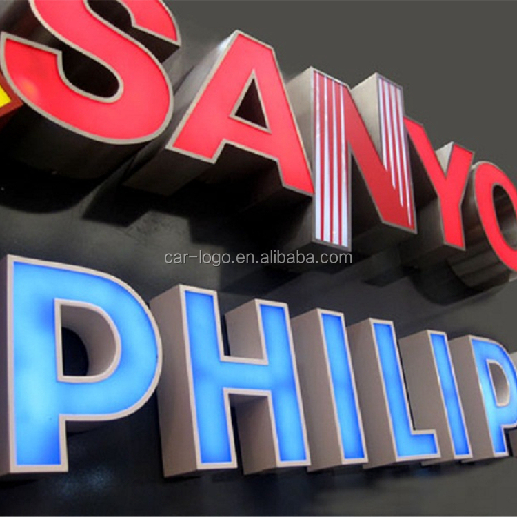 outdoor neon office sign light font mobile shop sign board design