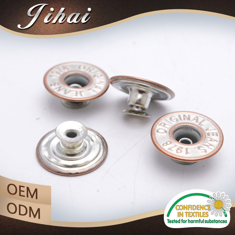 Alibaba China Factory Jeans Cover For Metal Tack Button