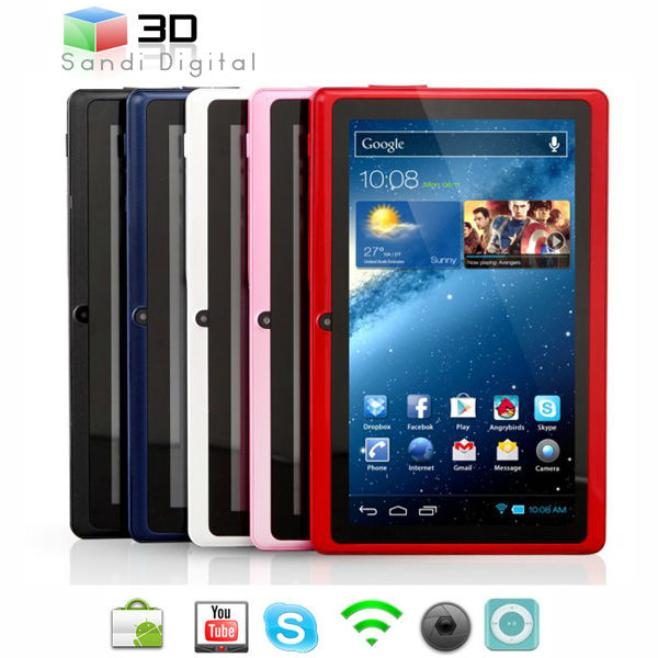 mini laptop computers sale 7 inch tablet Allwinner A13 ram 512 mb flash 4GB ultrathin Android 4.0 mini laptop