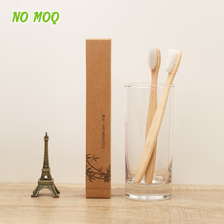 High Quality <strong>Eco</strong>- friendly OEM Bamboo Toothbrush With Customized Packaging And Logo