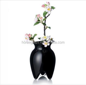 Wholesale Cheap Glass Flower Vasegold Color Vasemurano Glass Vases