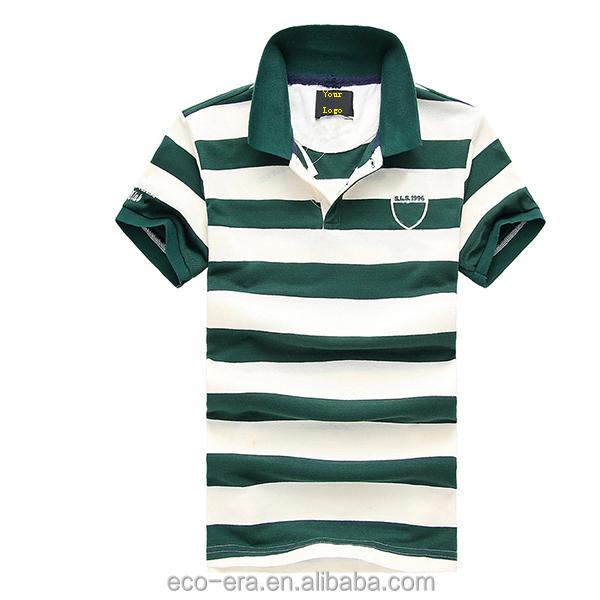 Cheap Price Striped T-shirt Men Fancy Polo T-shirts