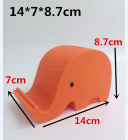 ECO-friendly PVC elephant shape money box & mobile holder