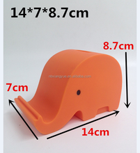 ECO-friendly PVC elephant forma contenitore di soldi & mobile holder