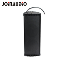 Indoor/outdoor Black aluminum waterproof PA system column speaker