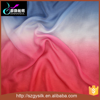 red blue ombre 6mm silk chiffon fabric