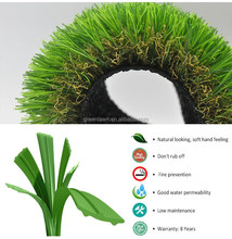 Soft 4 colors natural landscaping artificial grass for garden