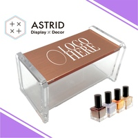 Customized Acrylic Makeup Organizer Display Case Base