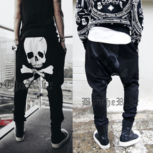 New spring tide model of skull print boys feet off shift haroun pants sports pants