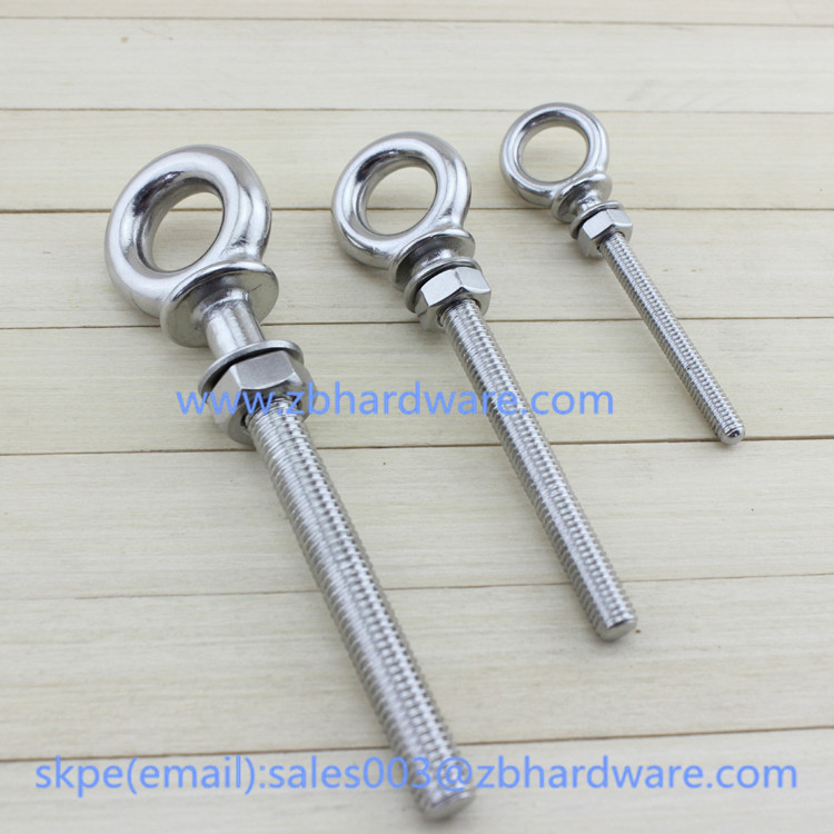 stainless steel 316 long Eye Bolts With Washer And Nuts Eye Bolt Manufacturer