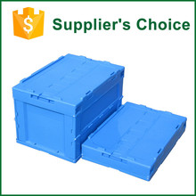 Square Plastic Collapsible Storage Bin/Supermarket Use Crates