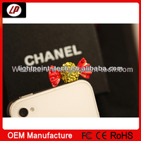 Beautiful 3.5mm Decoration Earphone Jack Dust Proof Plug for iphone