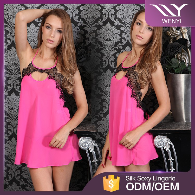 Hot sale babydoll porn night dress adult girls sexy transparent lingerie