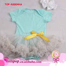 New arrival glitter light grey custom baby bodysuit suits one piece with white headband