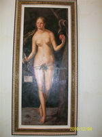 handpainted western style art nude girl oil painting on canvas for decoration