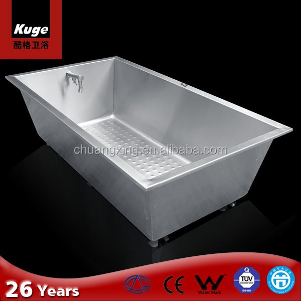 Factory Price Stainless Steel 304 UPC Bathtub