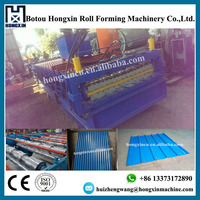 Double profile drawings roof sheet and corrugated roll forming machine with factory price for sale