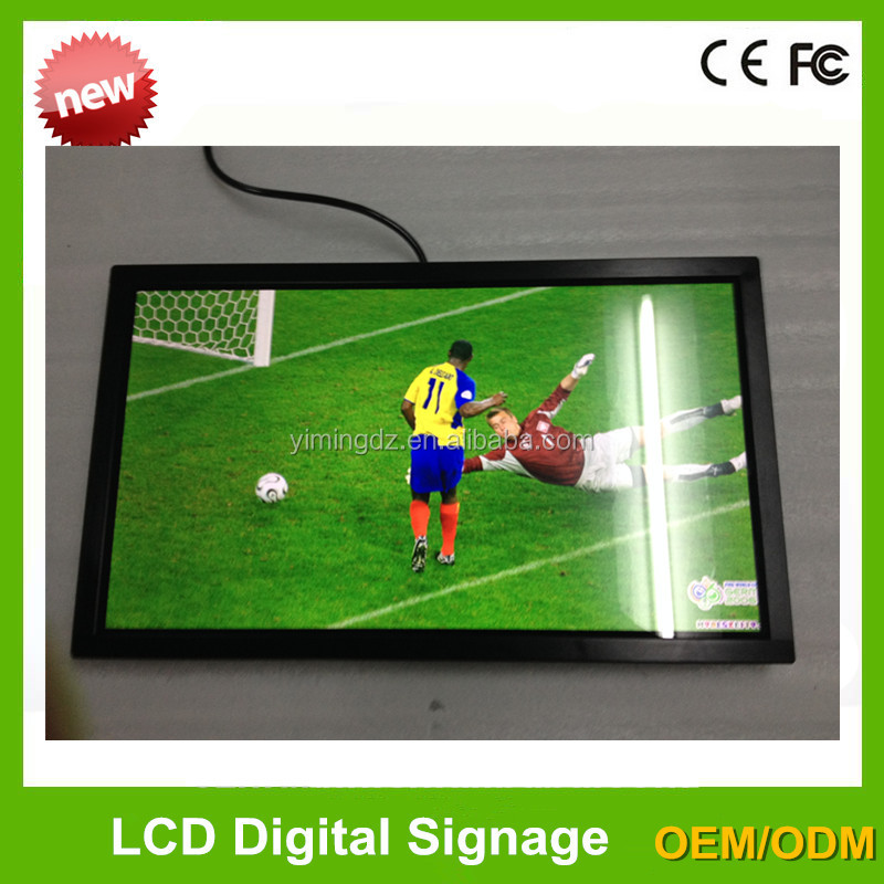 2016 new style 22,32,42,55 inch wall-mounted LCD advertising player