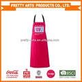 new hot sell color polycotton kitchen funny apron custom printing