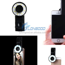 Clip Mini Spot Selfie Fill LED Light Portable Round Ring Flash for iPhone