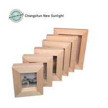 Unfinished solid Wood photo frame picture frame wood frame