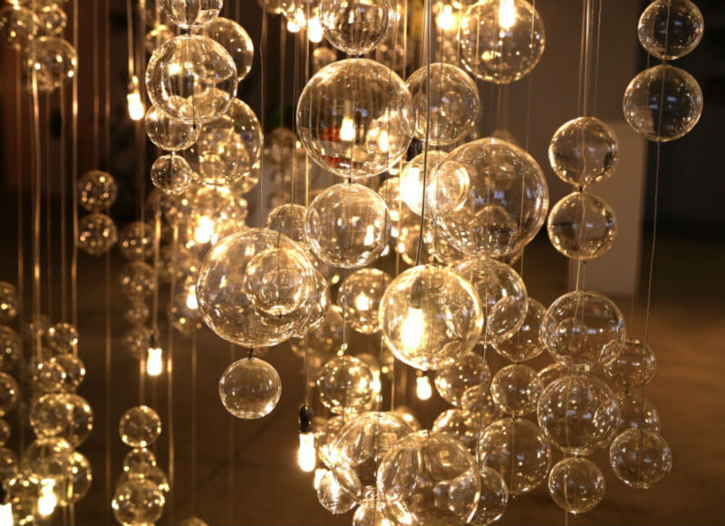 moderne agr able suspendus boules de verre lustre artisanat folklorique id de produit. Black Bedroom Furniture Sets. Home Design Ideas