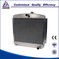 aluminum plate fin air cooled car radiator
