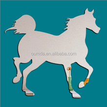 Removable horse shaped acrylic mirror decal