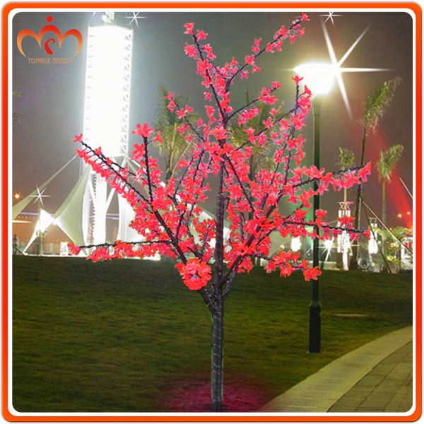 New type big cherry flower LED light up tree