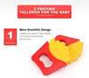FDA Hot sale silicone rattle teether,baby toothbrush teether ,Chips shape baby teether