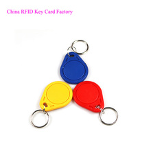 Wholesale price 13.56MHz carabiner plastic key fob