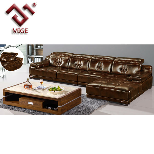 Brown leather extra large sofas