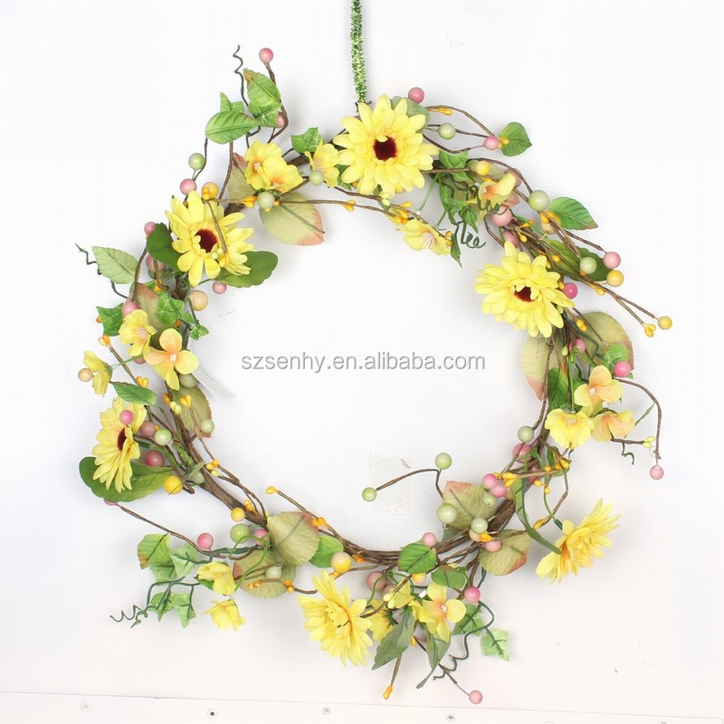 2017 high quality unique easter butterfly wreath decoration