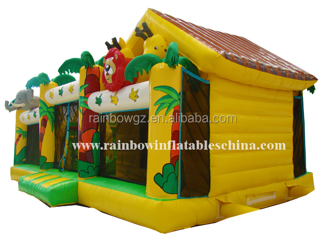 Hot Sale Customized Animal Zoo Theme Inflatable Fun City