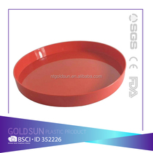 2016 NEW customized plastic round serving tray for bar