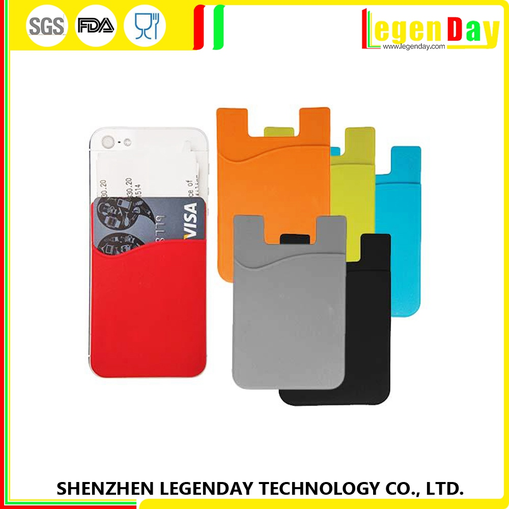 Amazing Quality silicone advertisement phone case card holder