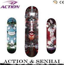 ACTION 31 inch cheap custom complete 100% canadian maple wood skateboards